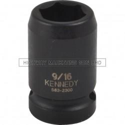 "Kennedy 1/2"" SQ DR 6pt Inch Standard Length Impact Socket"