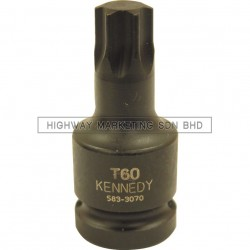 """Kennedy 1/2"""" SQ DR T40-T70 Torx Impact Socket"""