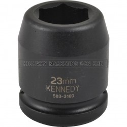 "Kennedy 3/4"" SQ DR 6pt Metric Standard Length Impact Socket"