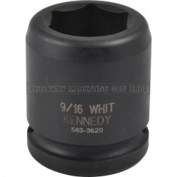 """Kennedy 3/4"""" SQ DR 6pt BSW Standard Length Impact Socket"""