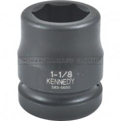 "Kennedy 1"" SQ DR 6pt Inch Standard Length Impact Socket"