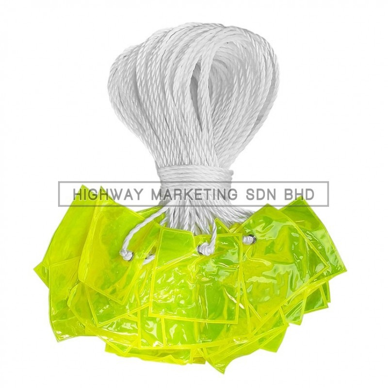 Hi-Safe hsf-40-6500 Delineator String with Yellow Reflective Flag 50m