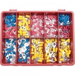 Kennedy KEN5155620K Terminals/Rings/Forks Red/Blue/Yellow Kit 300pcs