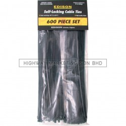 Edison EDI5153000K Assorted Black Cable Tie Sets