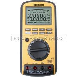 Edison EDI5163420K Auto Range High Accuracy Multimeter USB Interface