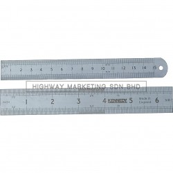 Kennedy KEN5183010K 150mm Round End Flexible Blade Engineer's Steel Rules Metric & Inch
