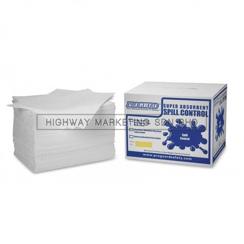 Proguard BOS-LMT4002 8mm Oil Only Laminate Absorbent Pad