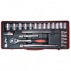 "Dynatool DYN-10-5150 1/2"" 24pcs 6pt Socket Set"