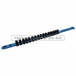 "Dynatool DYN-10-8901 3/8"" Socket Rail with 16 Clips"