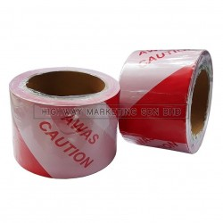 "Hi-Safe HK-BT-RW 3"" 50m Red/White Awas Warning Tape"